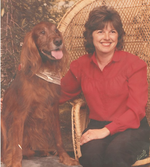 Delma Coughlin and Irish Setter